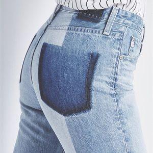 Ag Jeans Phoebe Splinter High-Rise Tapered Leg